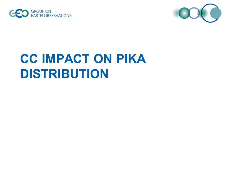 CC IMPACT ON PIKA DISTRIBUTION