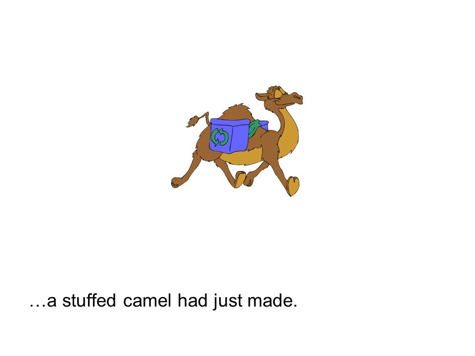 …a stuffed camel had just made.