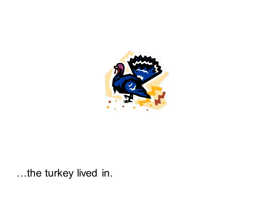 …the turkey lived in.