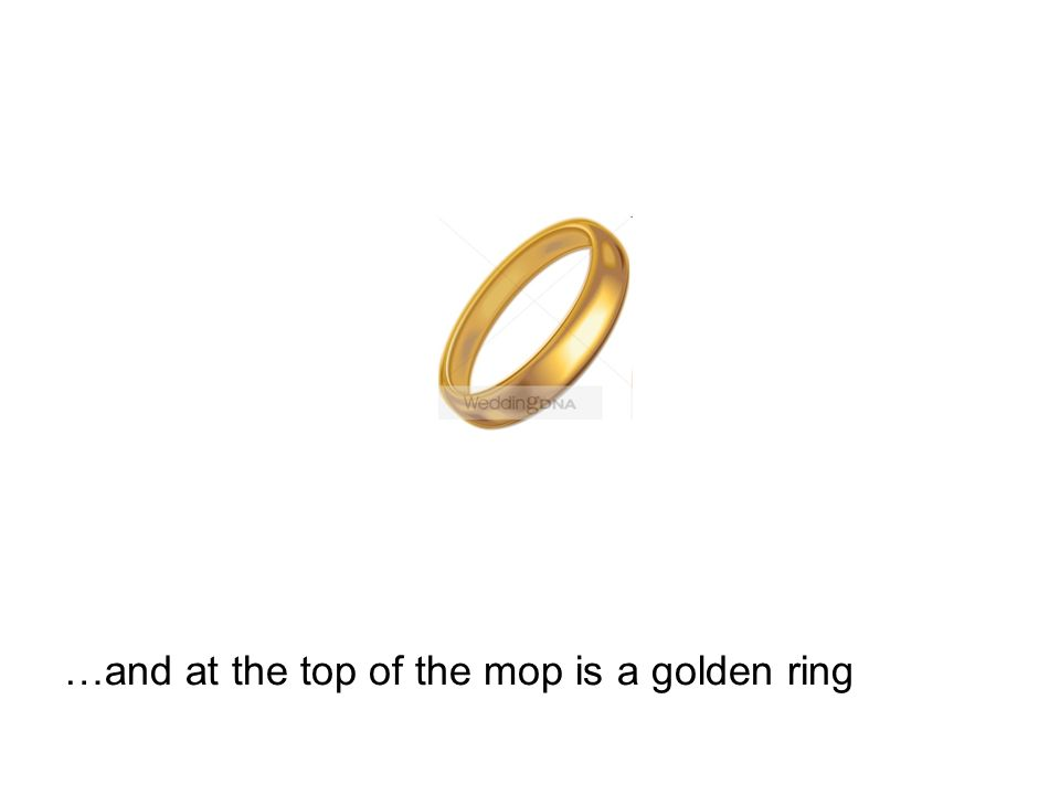 …and at the top of the mop is a golden ring