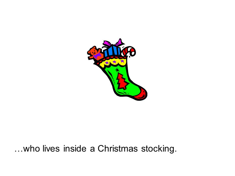 …who lives inside a Christmas stocking.