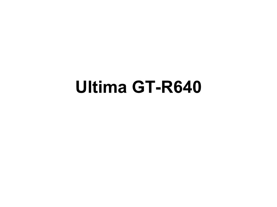 Ultima GT-R640