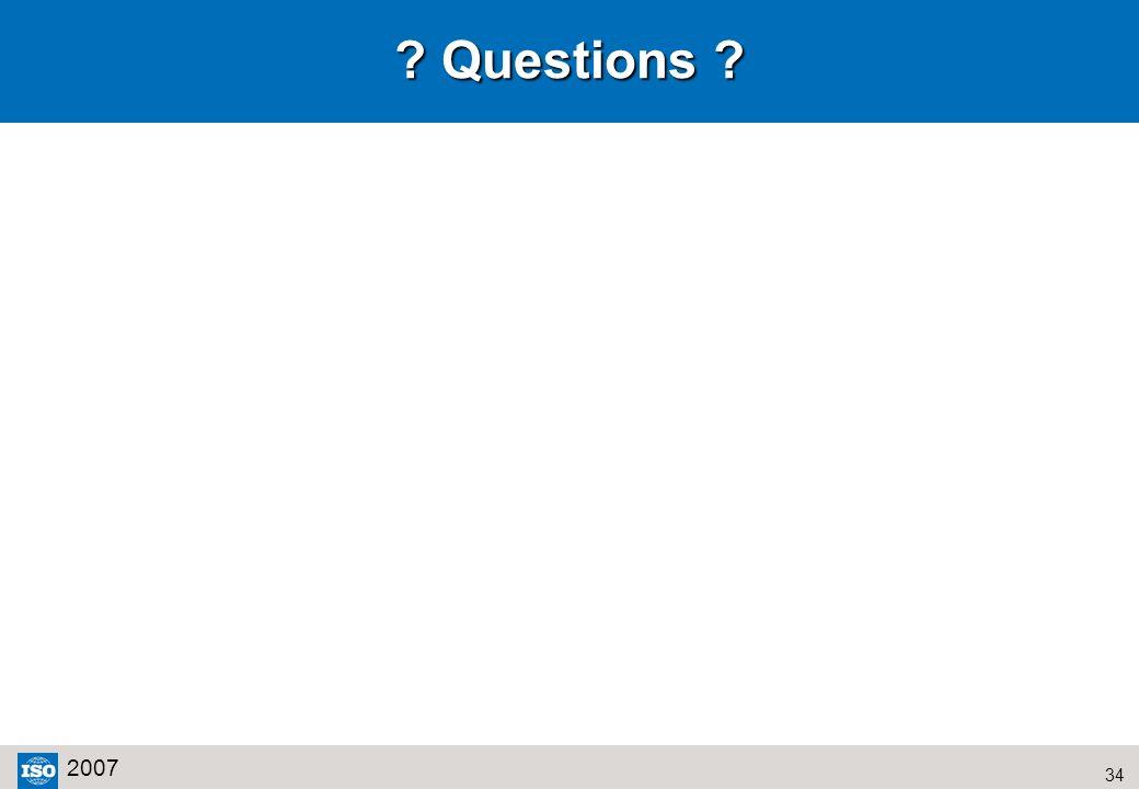 34 2007 Questions