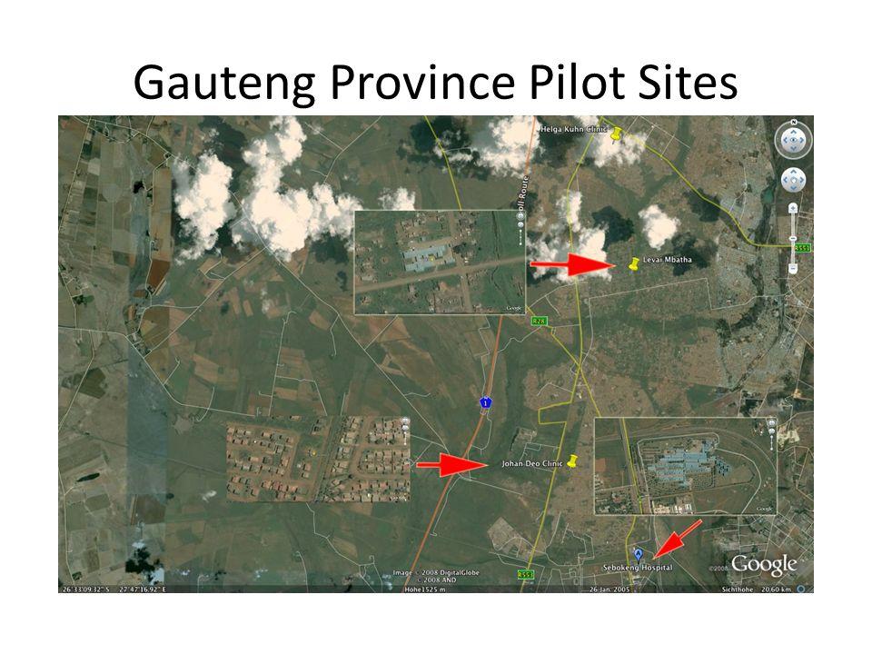 Gauteng Province Pilot Sites