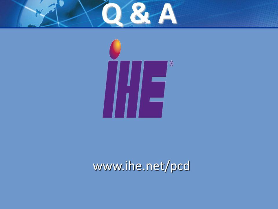 Q & A www.ihe.net/pcd