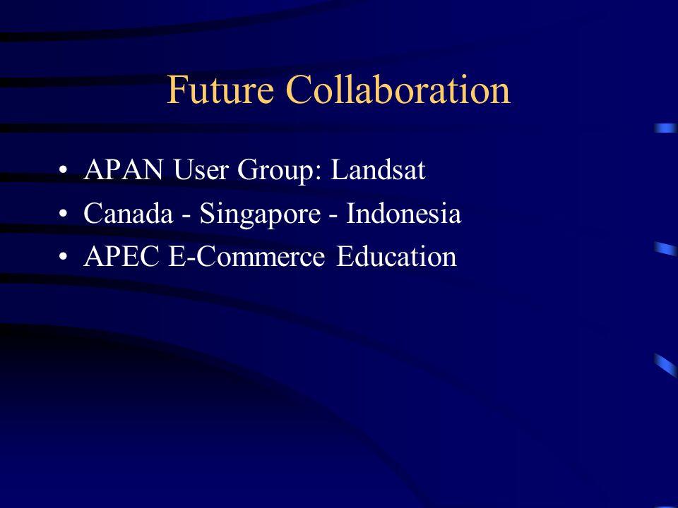 Future Collaboration APAN User Group: Landsat Canada - Singapore - Indonesia APEC E-Commerce Education