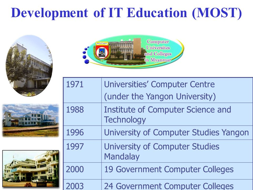 Development of Students in IT Education (under MOST)