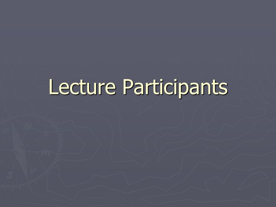 Lecture Participants
