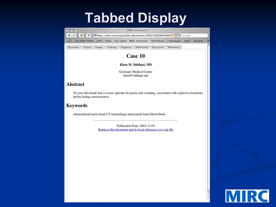 Tabbed Display
