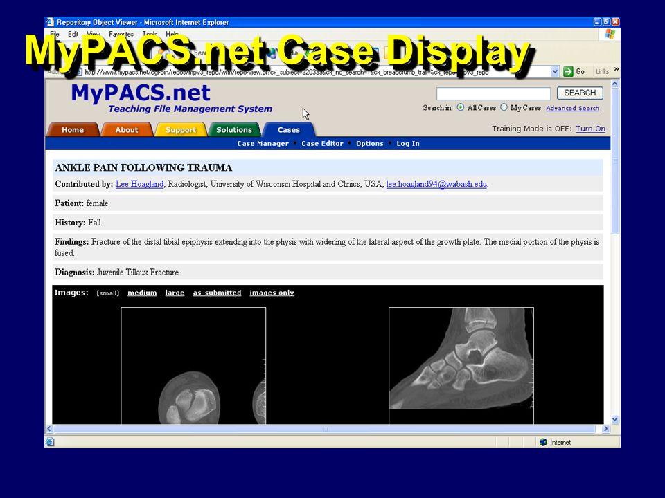 MyPACS.net Case Display