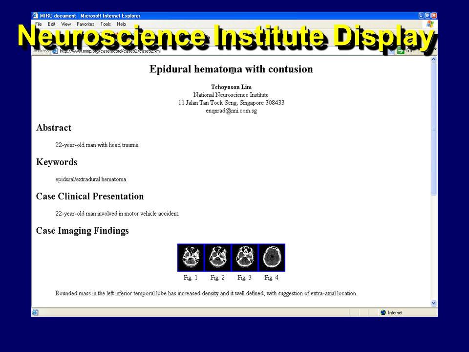 Neuroscience Institute Display