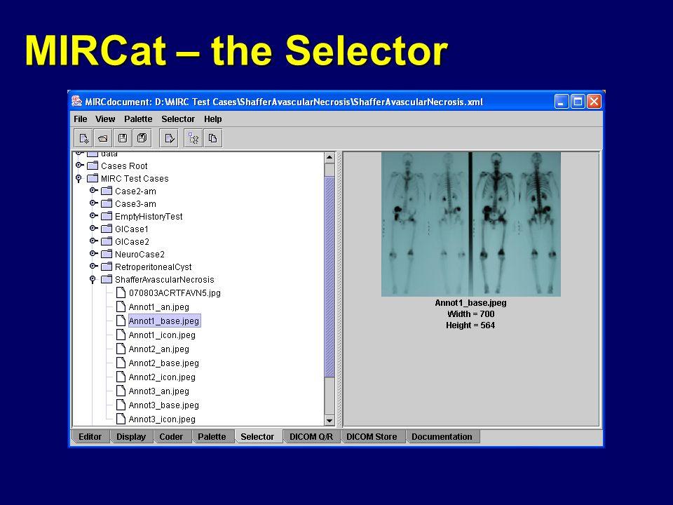 MIRCat – the Selector