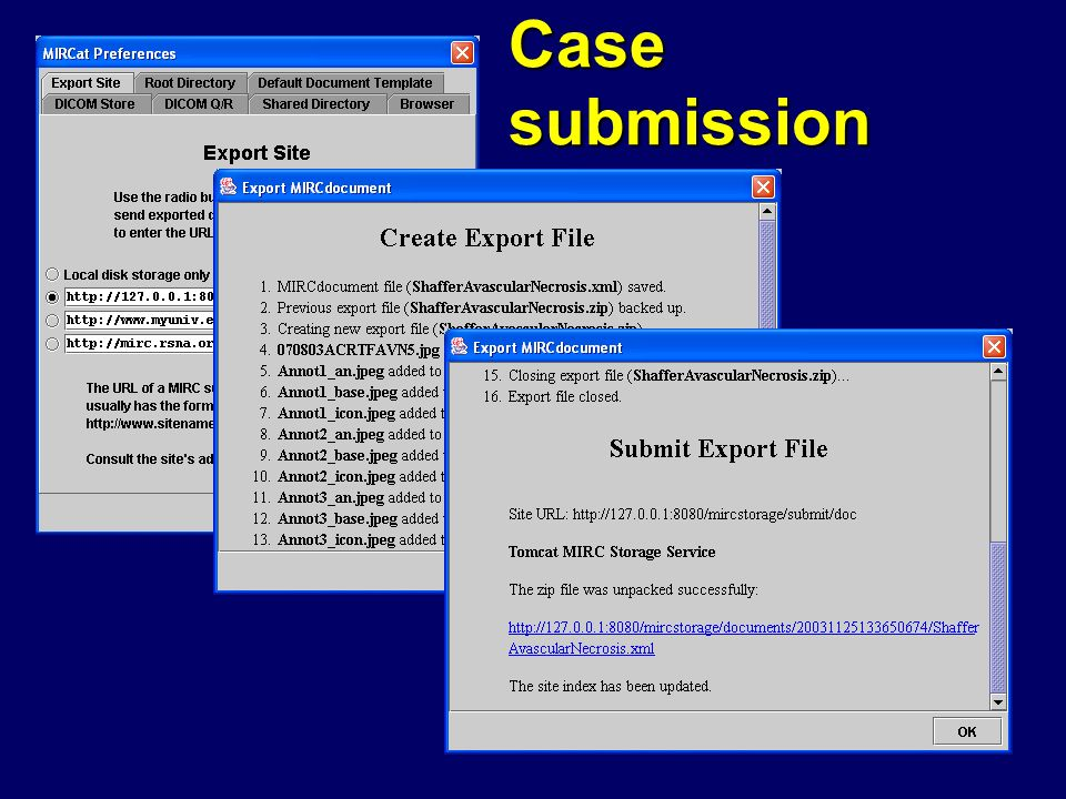 Case submission