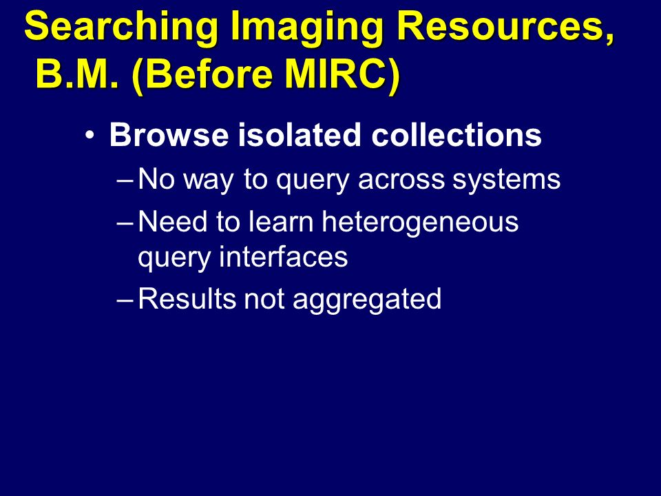 Searching Imaging Resources, B.M.