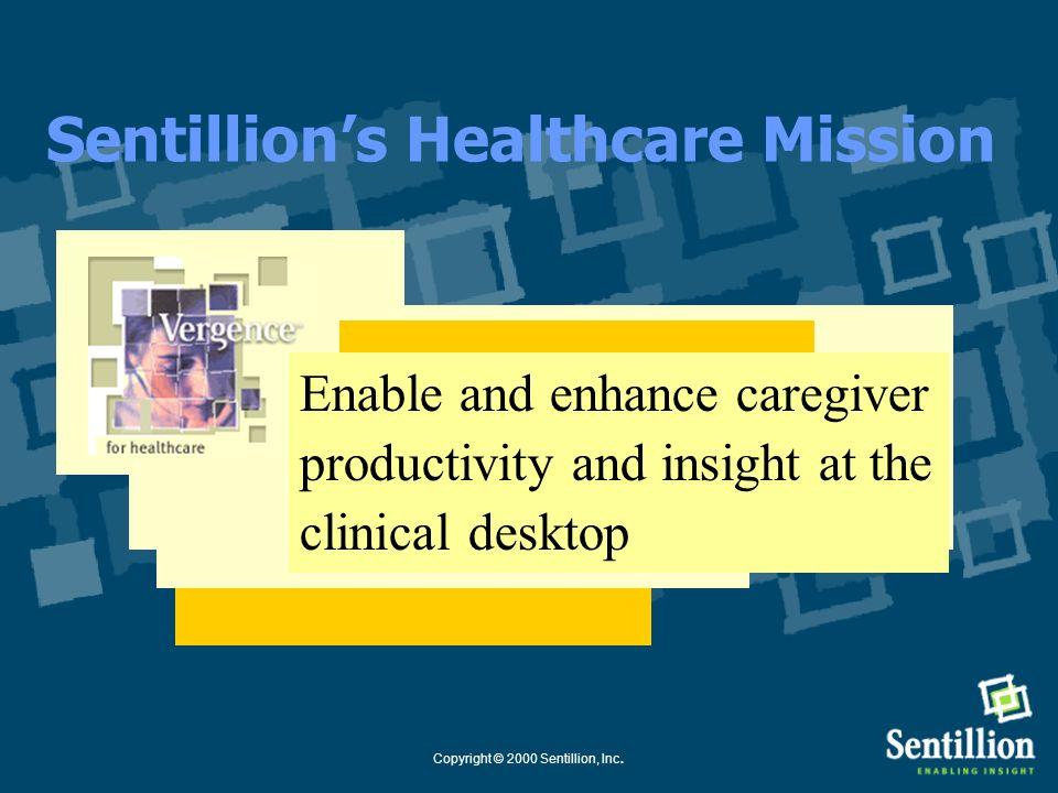 Copyright © 2000 Sentillion, Inc. Sentillion