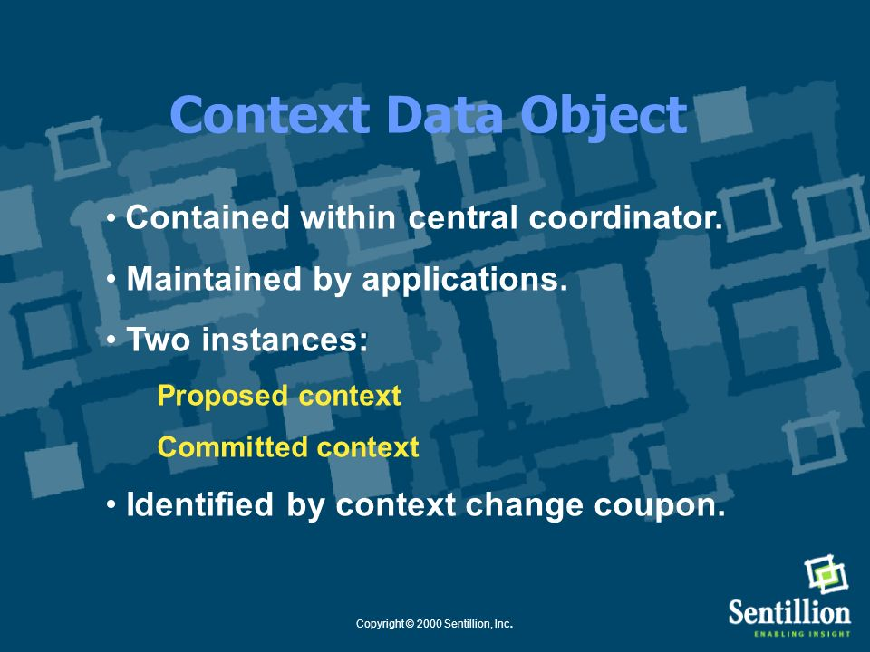 Copyright © 2000 Sentillion, Inc. Context Coupon