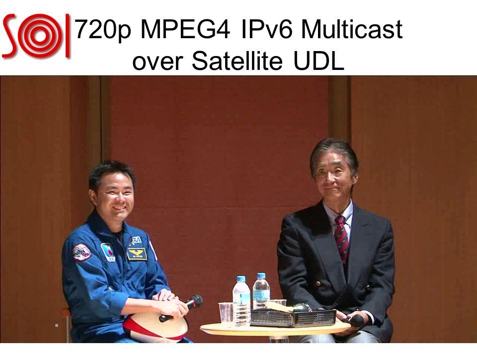 720p MPEG4 IPv6 Multicast over Satellite UDL