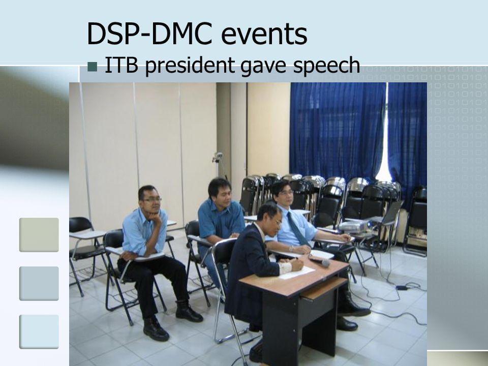 DSP-DMC events ITB president gave speech
