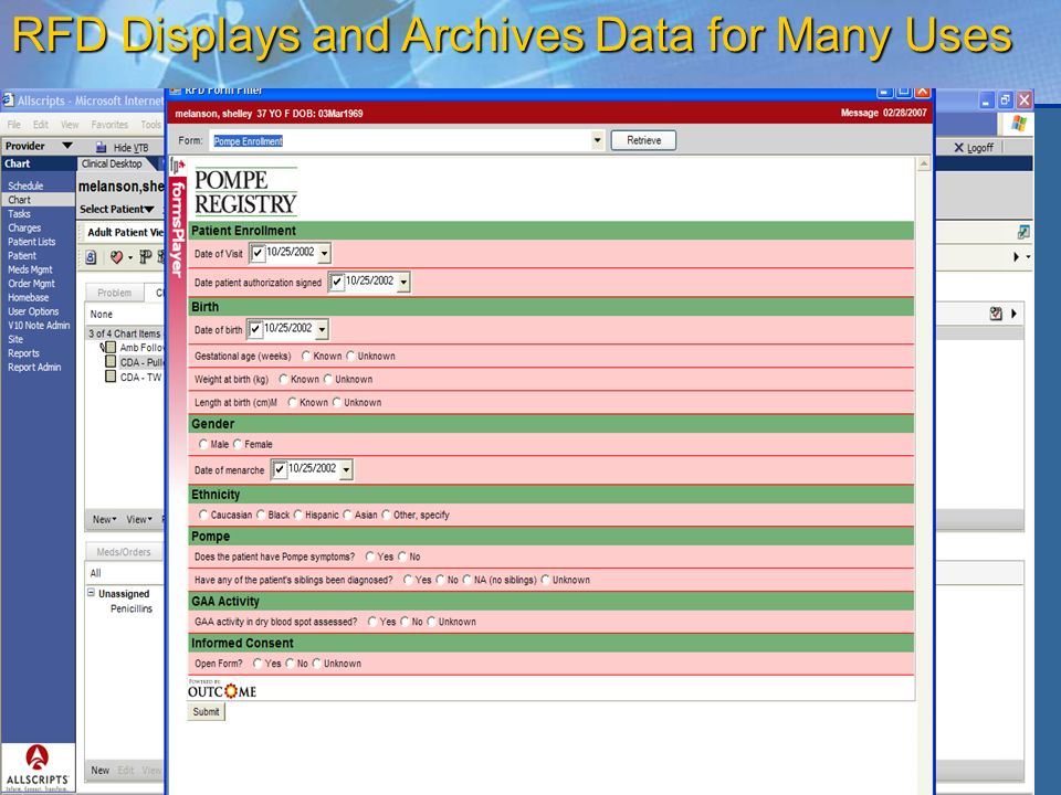 23 RFD Displays and Archives Data for Many Uses