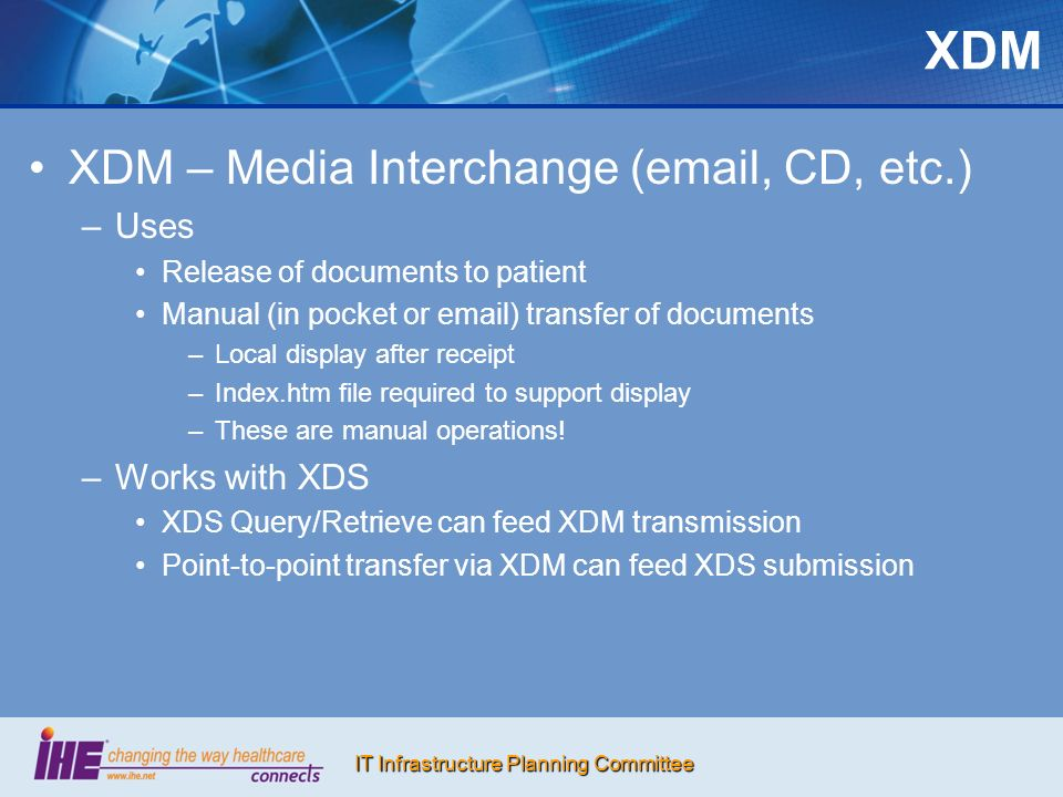 IT Infrastructure Planning Committee Health Information Exchange Generally more than two trading partners, e.g.