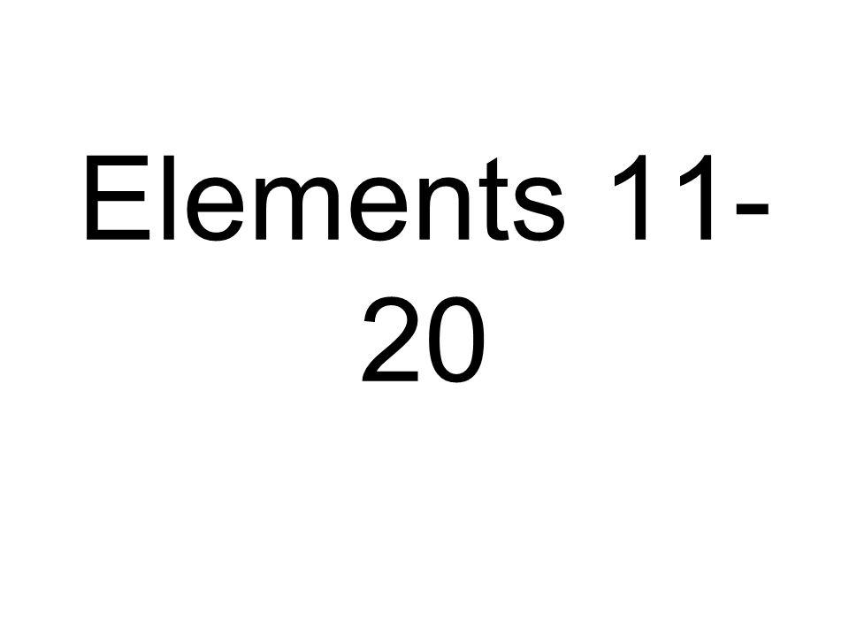 Elements 11- 20