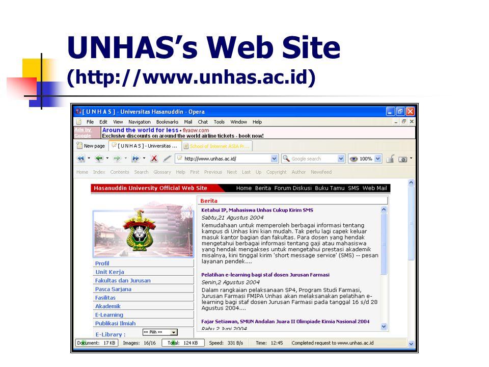 UNHASs Web Site (http://www.unhas.ac.id)