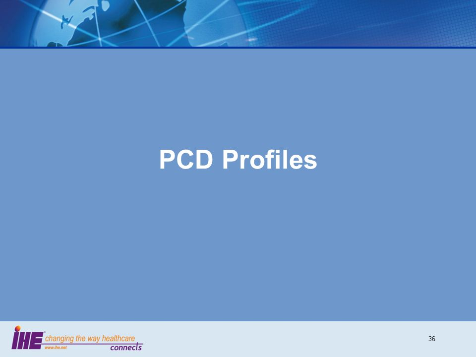 36 PCD Profiles