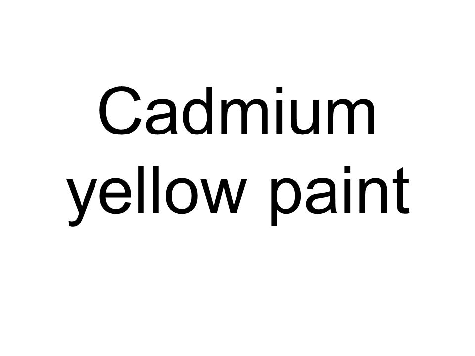 Cadmium yellow paint