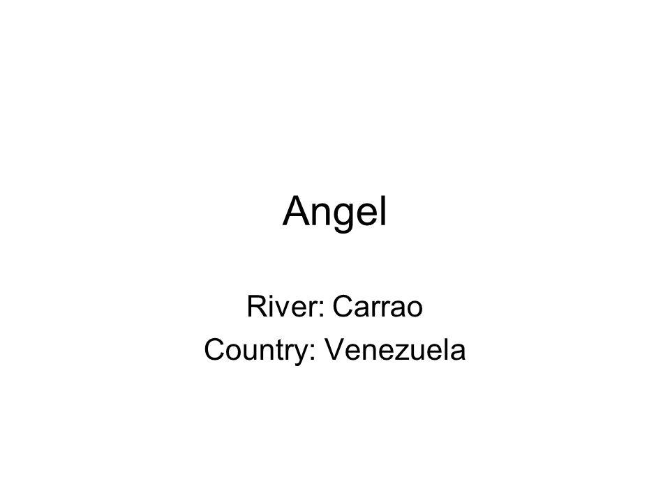 Angel River: Carrao Country: Venezuela