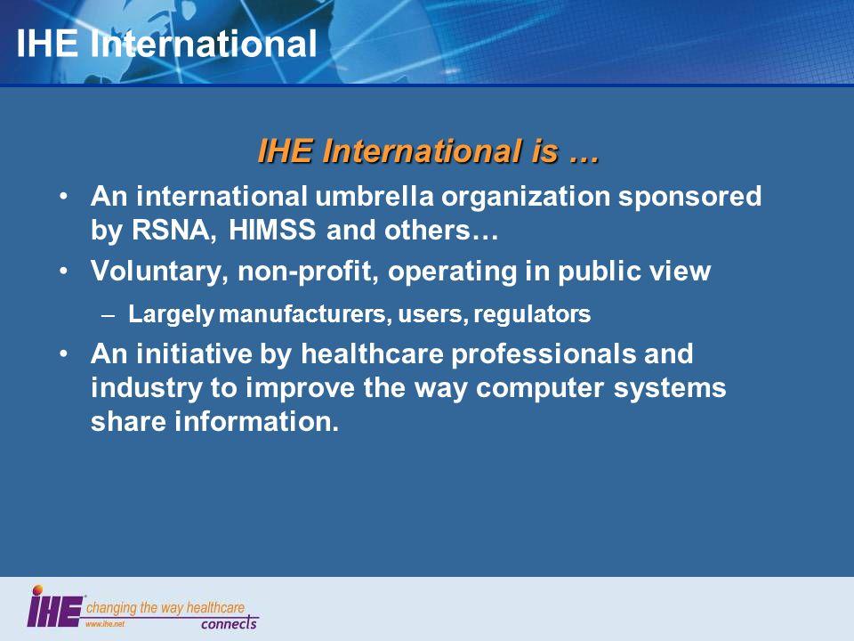 Why use IHE PCD profiles.