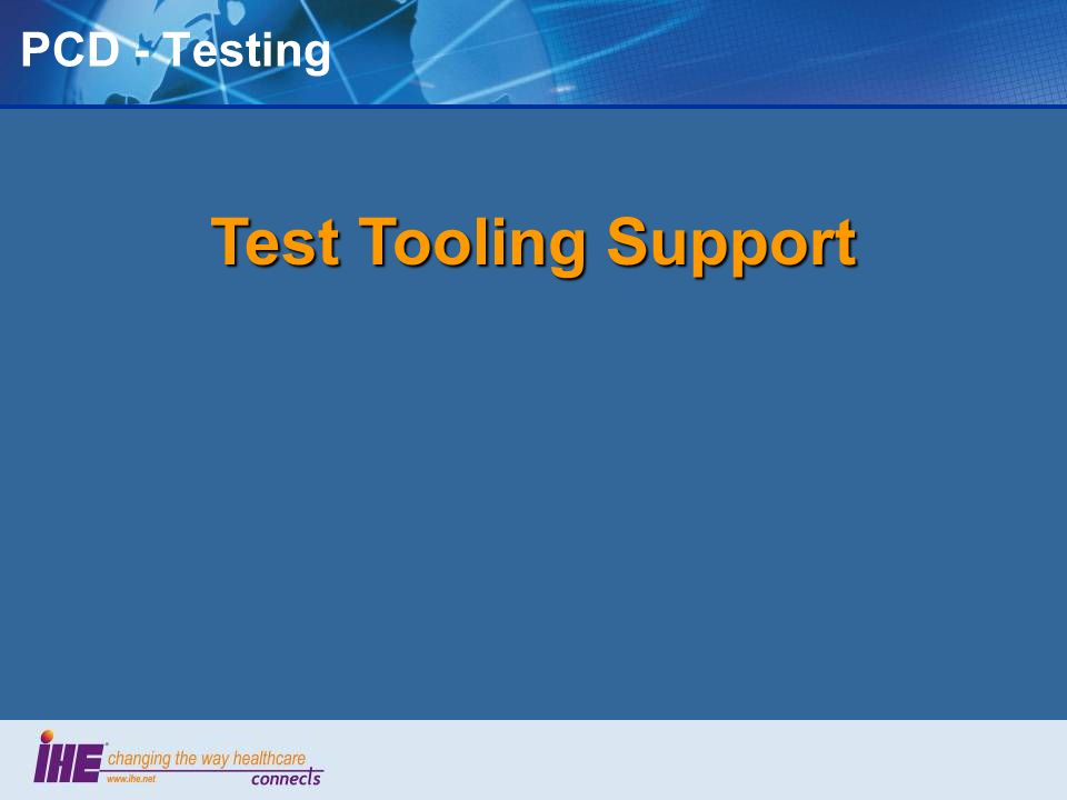 PCD - Testing Test Tooling Support