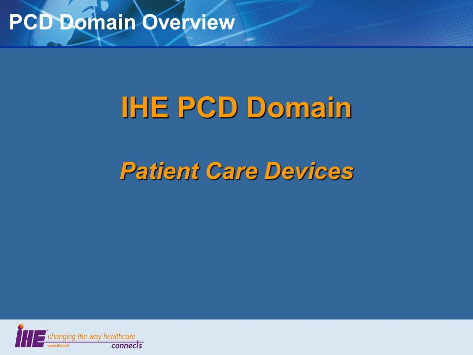 IEEE 11073 Domain Information Model Defines Device Context 1 0.. n