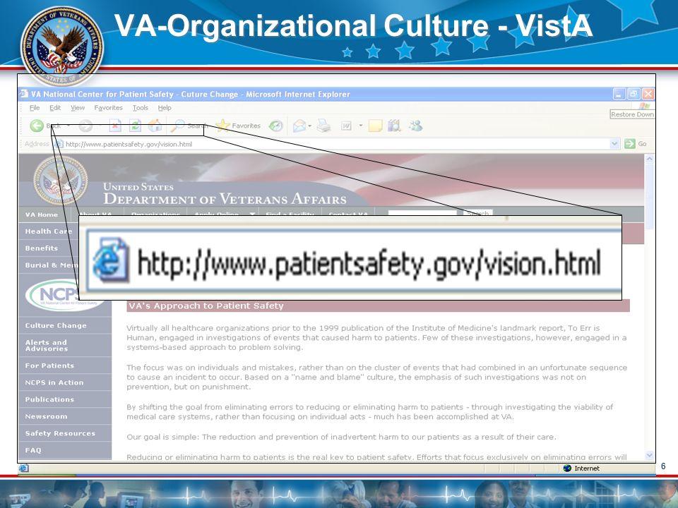 66 VA-Organizational Culture - VistA