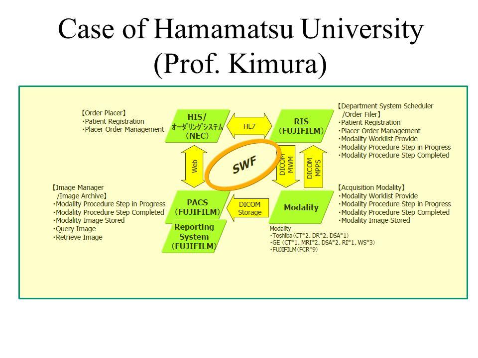 Case of Hamamatsu University (Prof. Kimura)