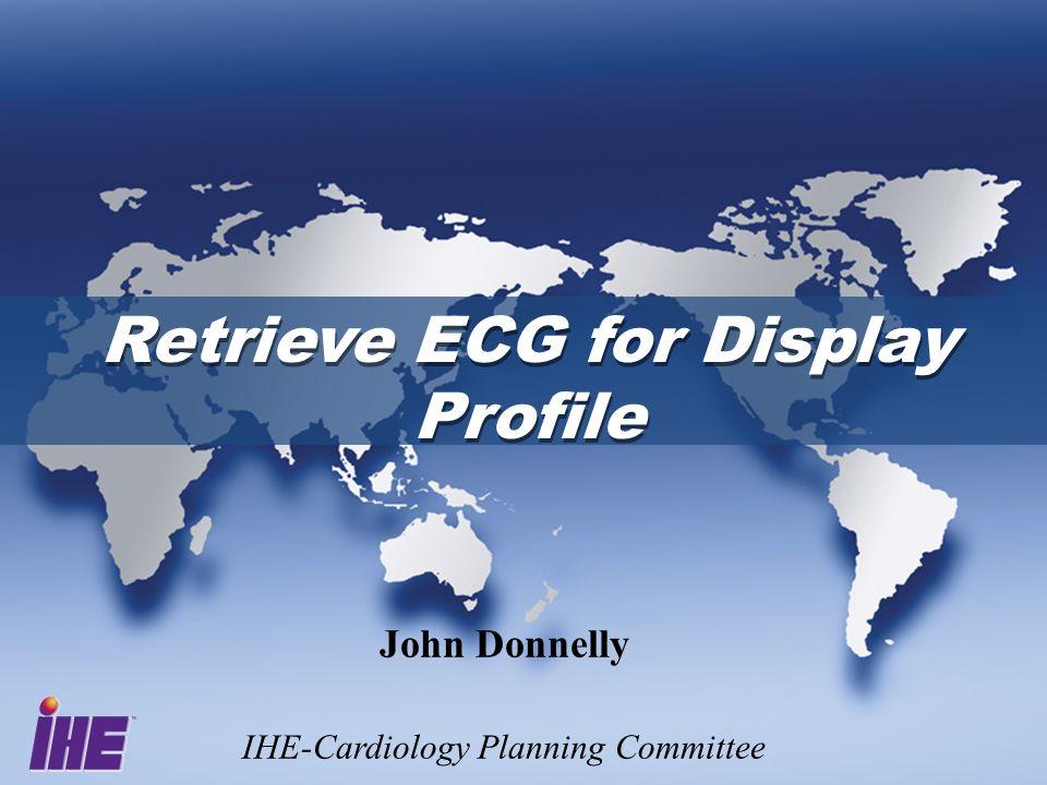 June 28-29, 2005Interoperability Strategy Workshop2 ECG Needs ECGs Accessible Everywhere.