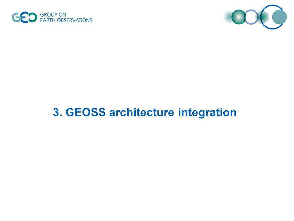 3. GEOSS architecture integration