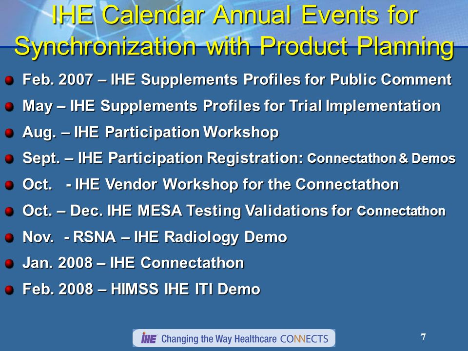 27 IHE Benefits Clinical UsersClinical Users Greater access to consistent informationGreater access to consistent information Fewer errors, fewer tedious tasksFewer errors, fewer tedious tasks AdministratorsAdministrators Increased throughput - Better schedulingIncreased throughput - Better scheduling Reduce CostReduce Cost BuyersBuyers Specify/purchase RFPs integration capabilities easily and Freedom to acquire Best of Breed systemsSpecify/purchase RFPs integration capabilities easily and Freedom to acquire Best of Breed systems IT ProfessionalsIT Professionals Faster, more predictable integration projectsFaster, more predictable integration projects Facilitate cooperation of competing vendorsFacilitate cooperation of competing vendors