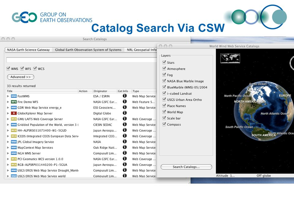 Catalog Search Via CSW