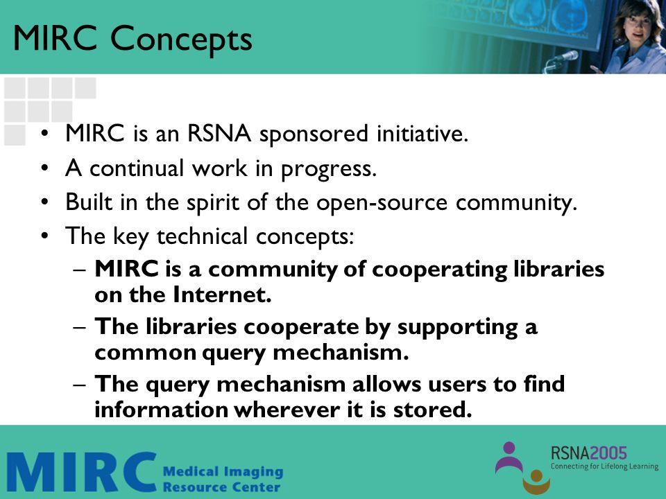 MIRC Objective MIRC objectives reach beyond Teaching Files.