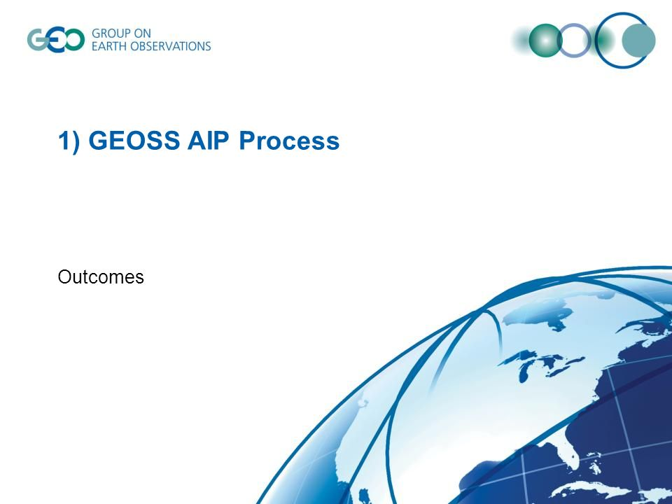 1) GEOSS AIP Process Outcomes