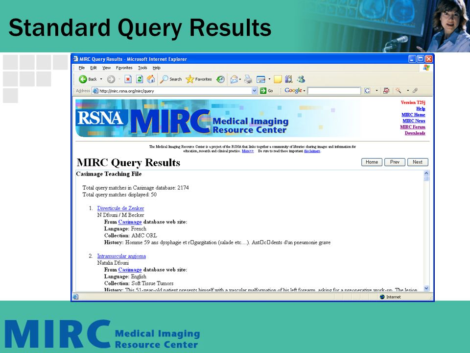 Standard Query Results
