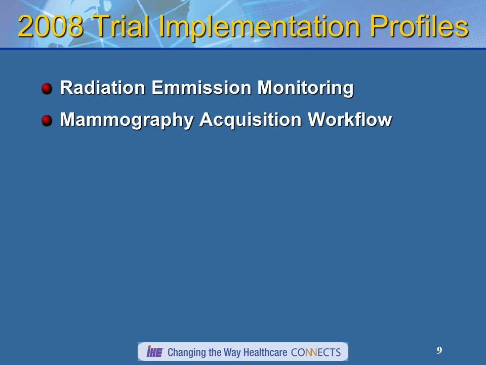 20 Radiology Enterprise B Radiology Enterprise A PACS B Portable Data Creator Patient Data 2.Relevant Data (including film) is collected and Enterprise A creates portable media with patients radiology information.