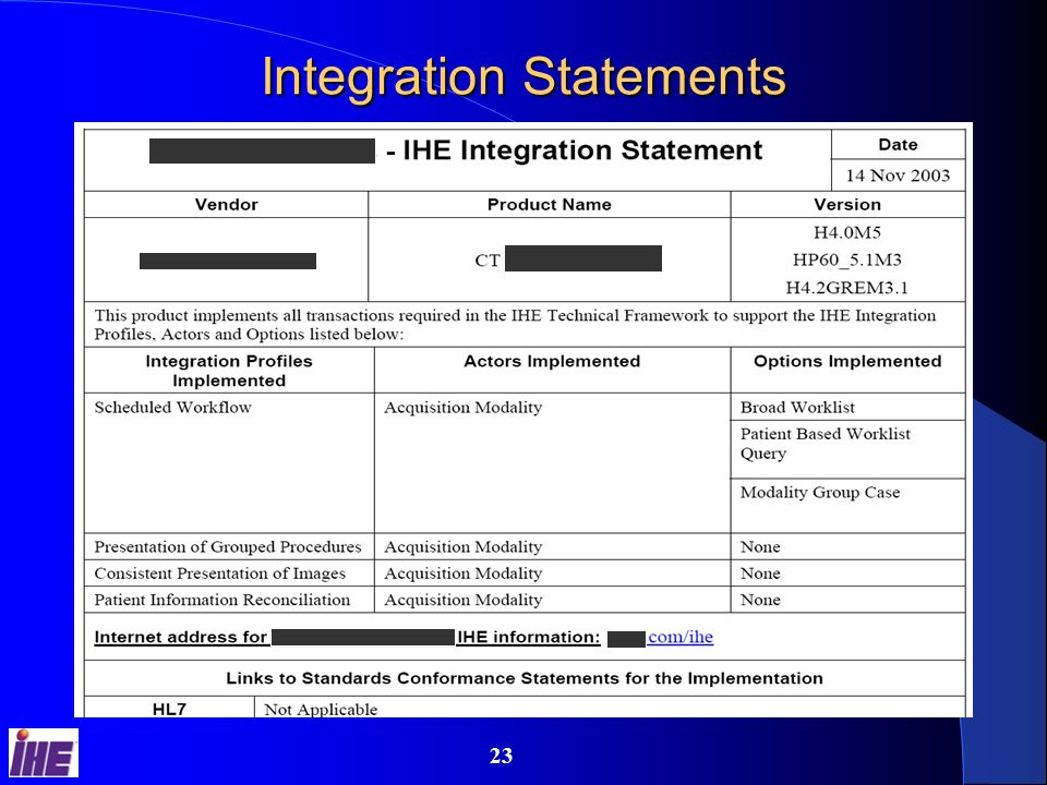 22 RFPs & IHE Integration Statements Be Brief. The system must support DICOM Be Effective.