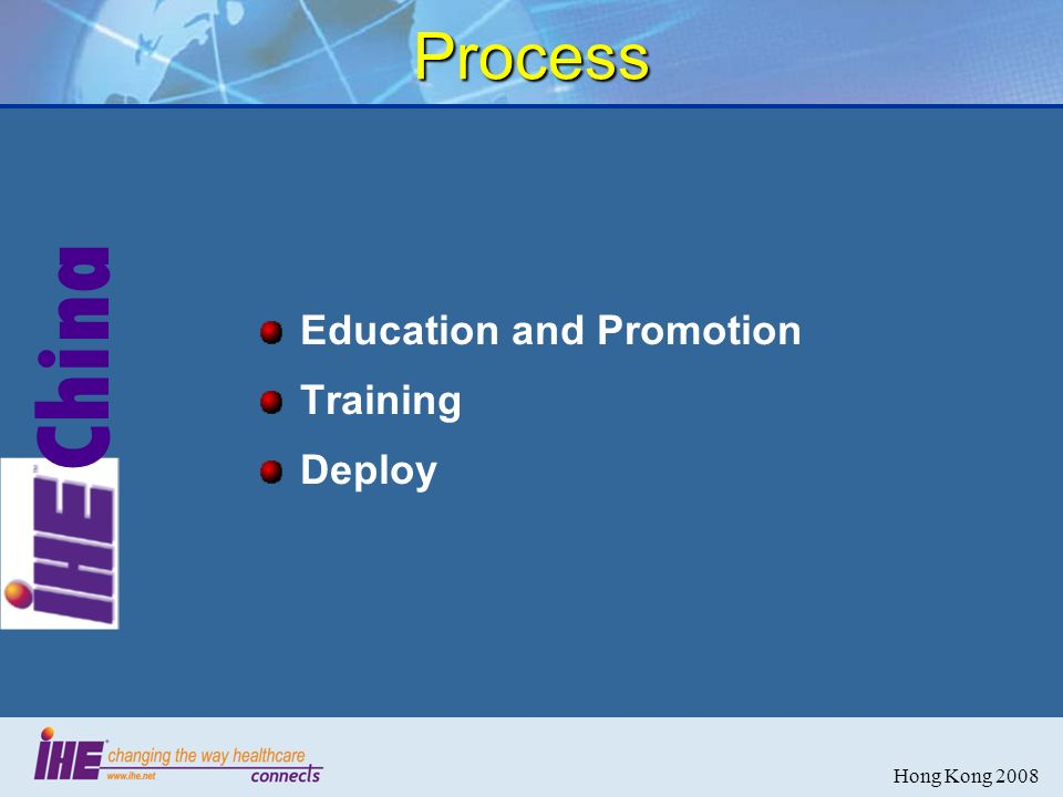 China Hong Kong 2008 Process Education and Promotion Training Deploy