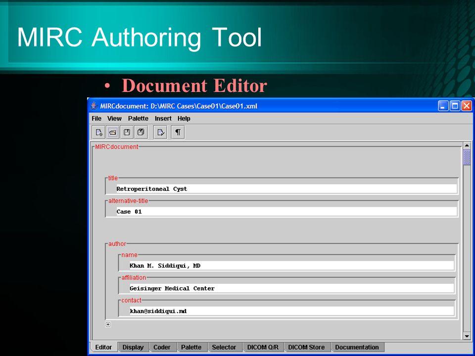 MIRC Authoring Tool Document Editor