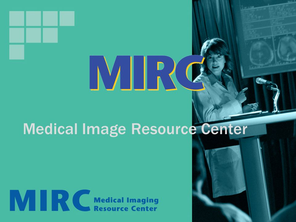 The MIRC Community Internet Server Index MIRC Sites Server Index RSNA User Server Index MIRC Storage Service: - Document Authoring - Document Storage - Document Indexing - Web Server MIRC Query Service: - Access to the community