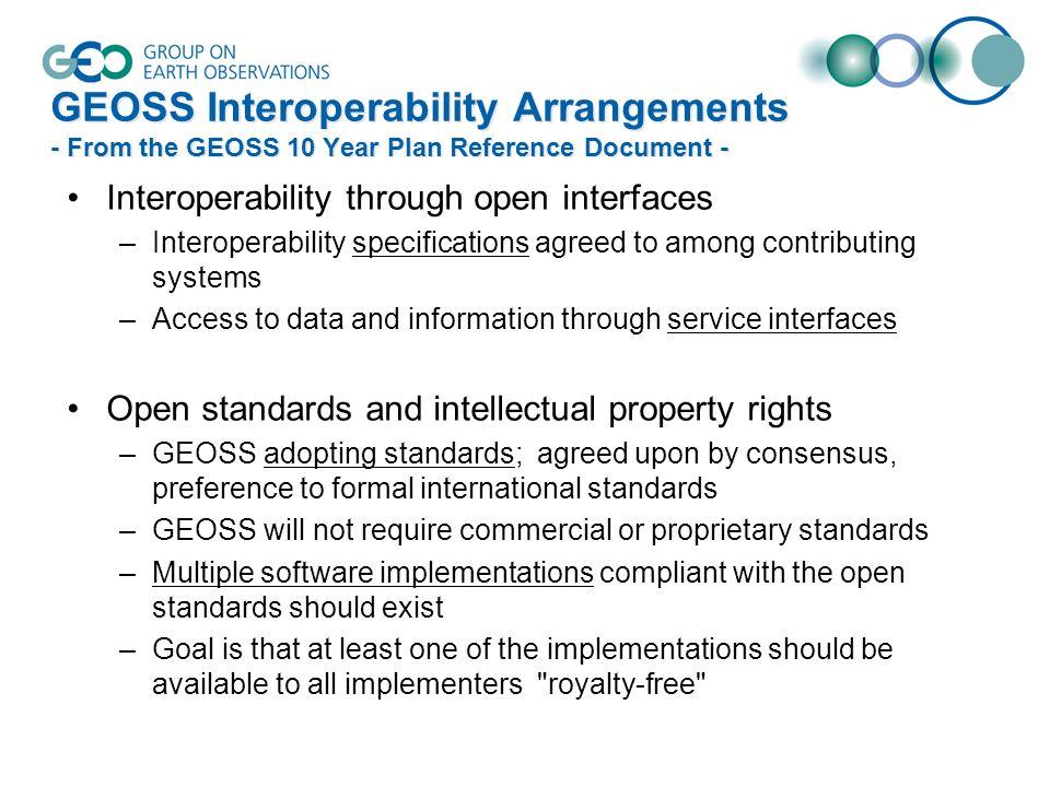 GEOSS Common Infrastructure (GCI)