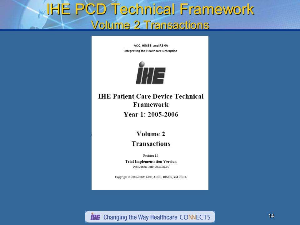 13 IHE PCD Technical Framework Volume1 Integration Profiles