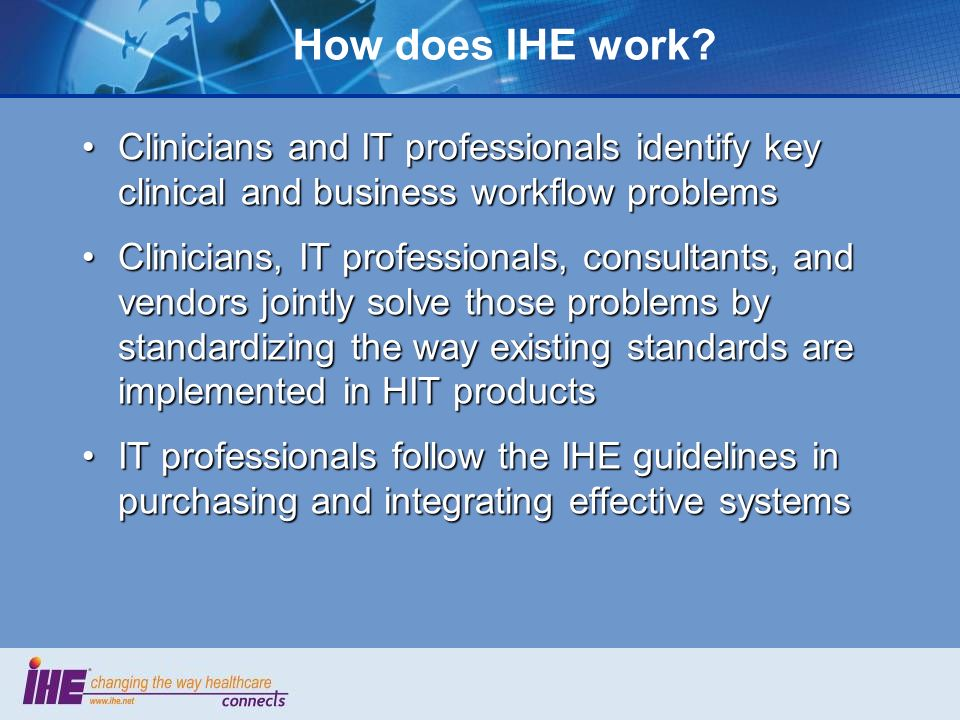 How does IHE work.