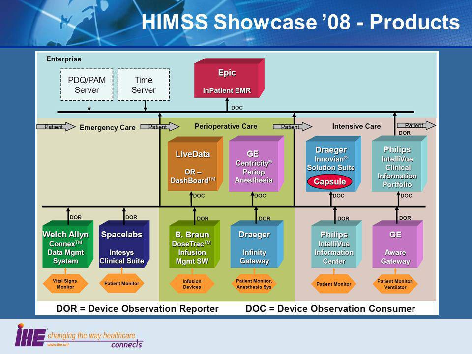 HIMSS Showcase 08 - Products